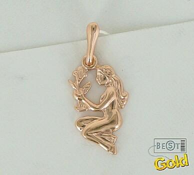 Зодиака со знаком дева золотой кулон